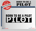 lc55_Autoaufkleber_born to be a pilot_lc55