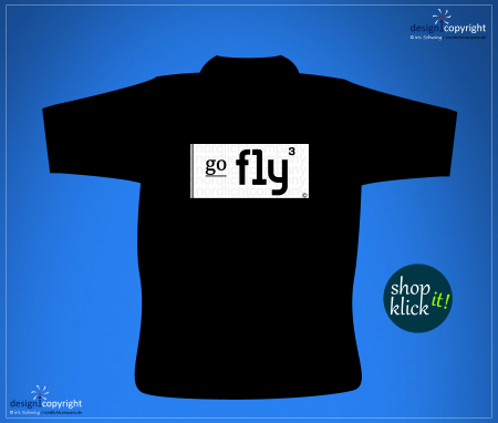 nc30_ go fly hoch 3 aviation Label go fly T-Shirt Aviation